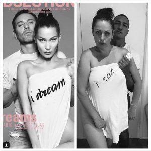Screenshot Instagramseite von Celeste Barber. Quelle: https://www.instagram.com/p/Bbut2MtBKM3/?taken-by=celestebarber
