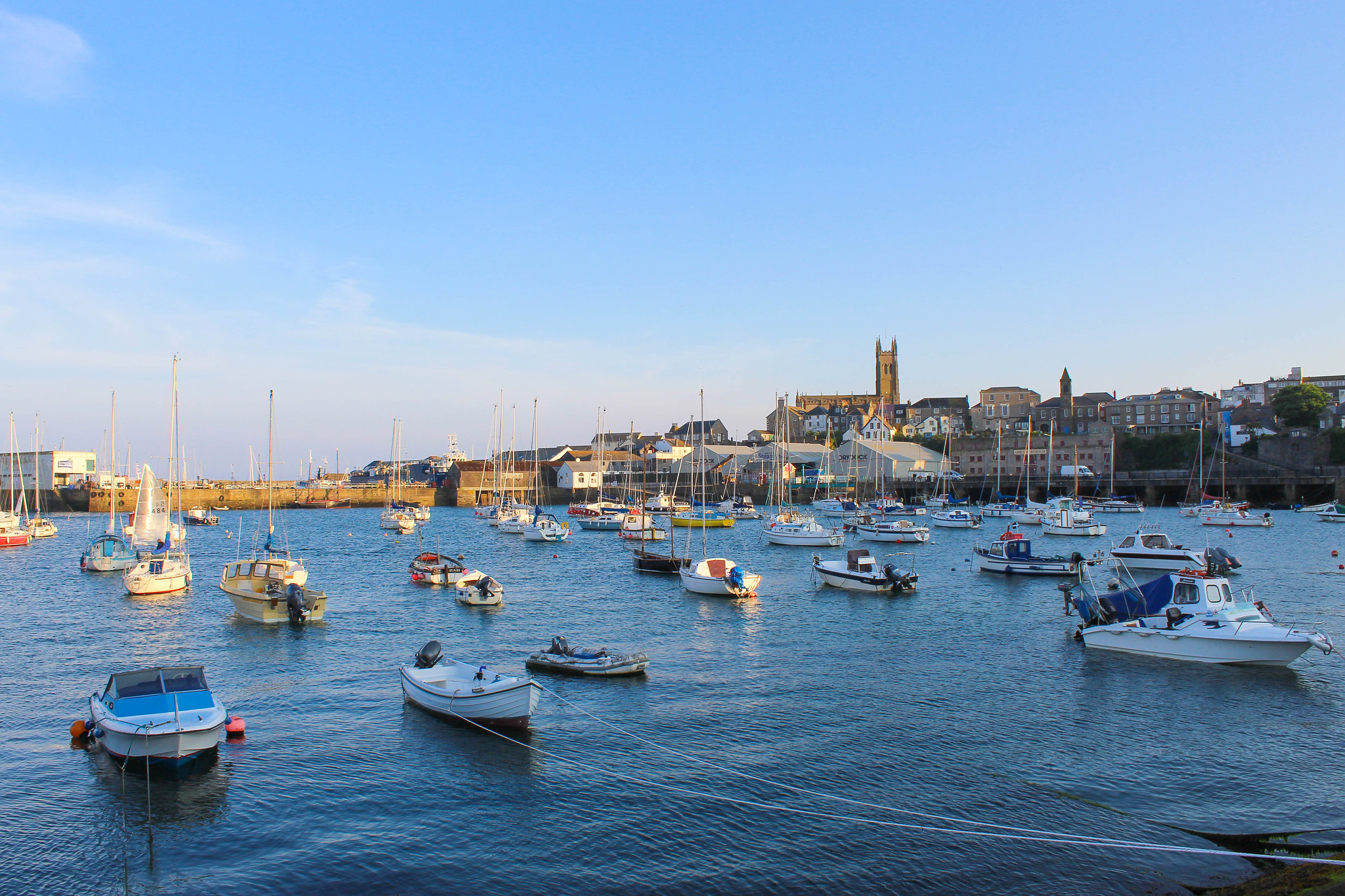 Die britische Stadt Penzance an der Küste Cornwalls.
