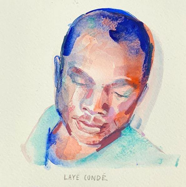 Laye Condé, gezeichnet von Jenny Adam