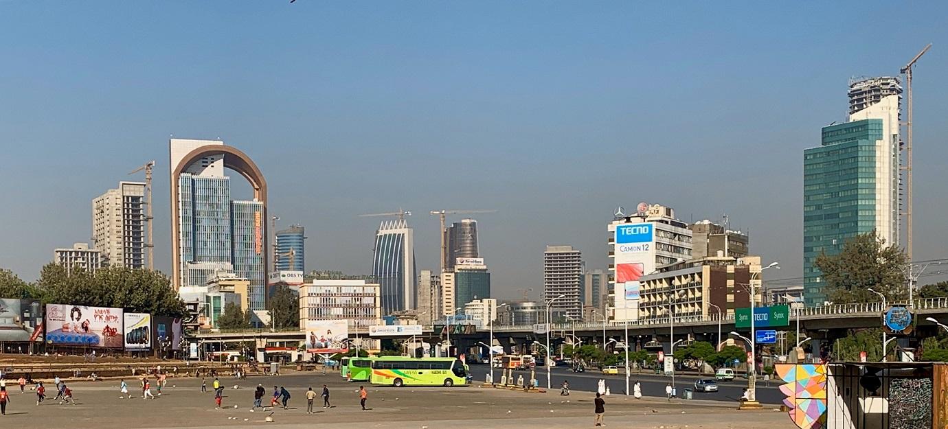Zentraler Platz in Addid Abeba, Quelle: Katja Scherer
